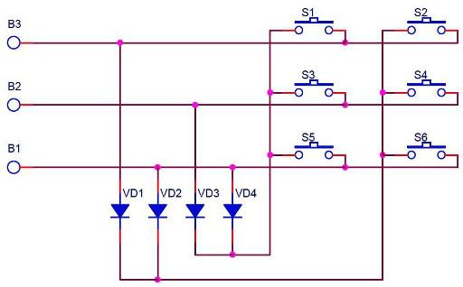 Схема кнопок управления металлоискателей ШАНС